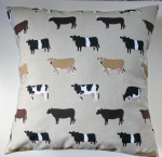 "Cushion Cover in Sophie Allport Cows 14"" 16"" 18"" 20"""